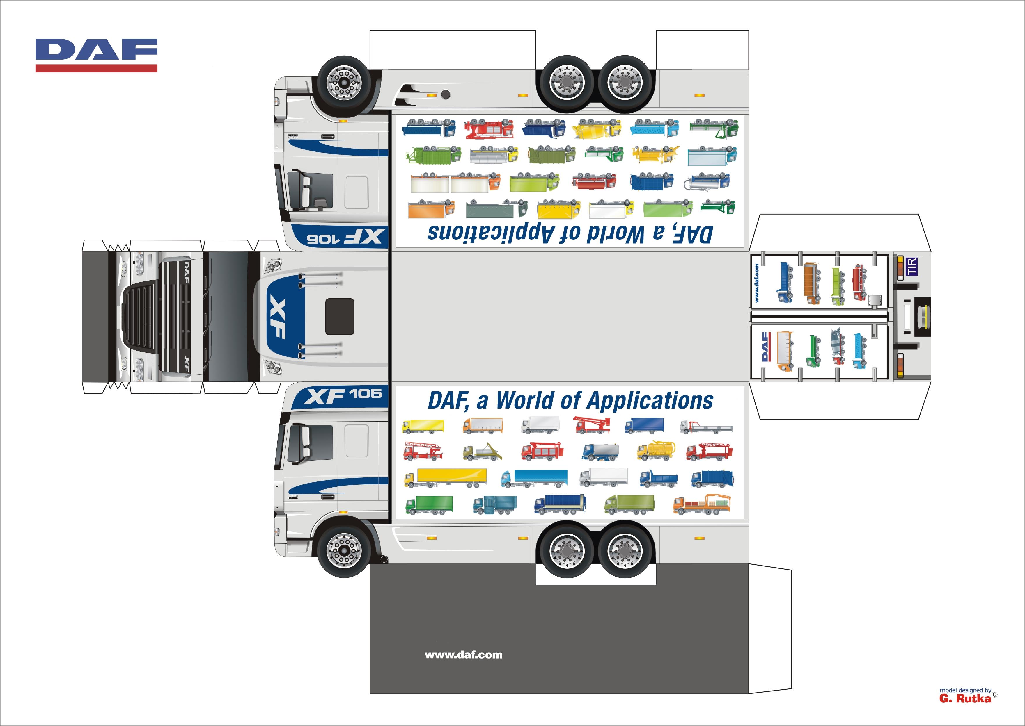 Машинки грузовые из бумаги своими руками 45