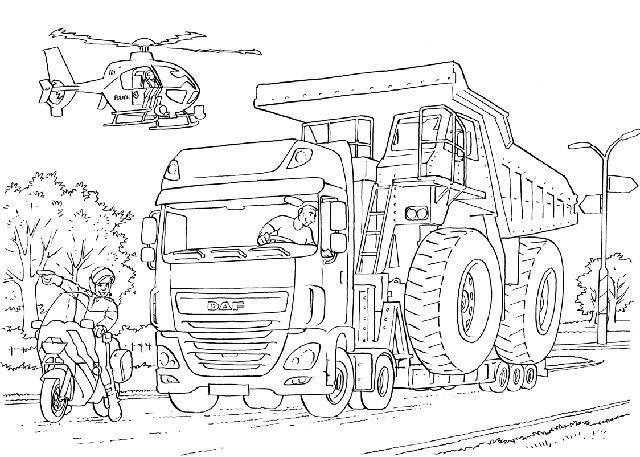 vrachtwagen daf xf kleurplaat daf daf kleurplatenl